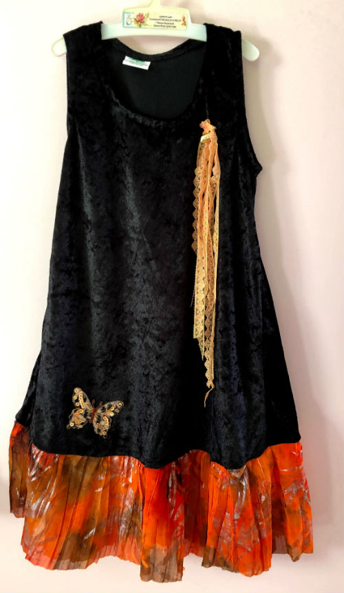 Black Orange Kids Fairytale Dress
