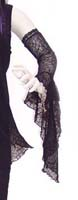 Spider Web Lace Fingerless Glove with Drop Cuff