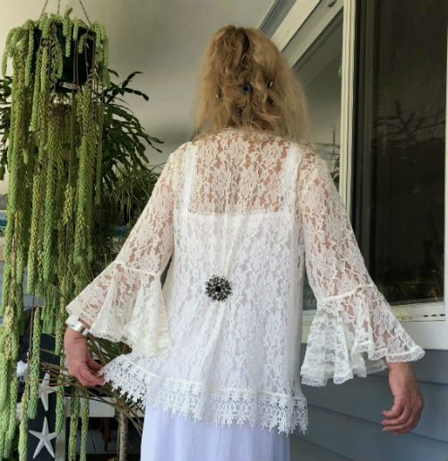 Ivory Cord Lace Wedding Jacket
