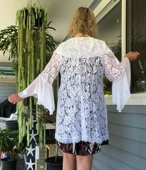 White Lace Wedding Jacket