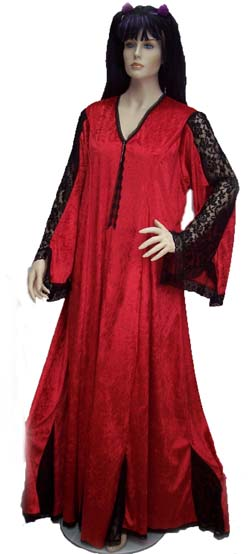 Red Velvet with Black Lace Lady Julia Plus Size Bridal Gown