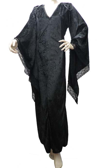 Black Velvet Gothic Style Long Dress