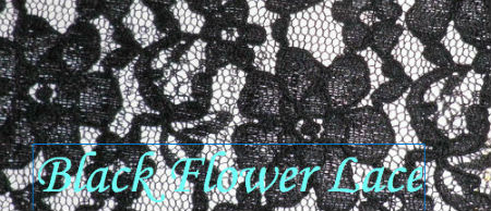 Black Flower Lace