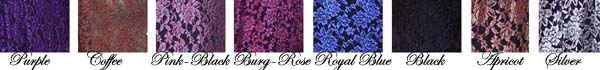 Rose Lace Colour Chart