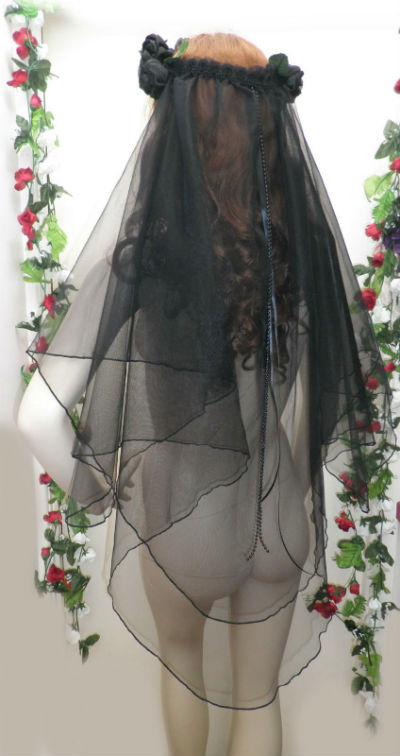 Black Gothic Wedding Veil