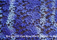 Blue Blue Tie Dyed Lace