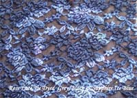 Greyish Black & Blue Tie Dyed Fabric