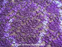 Purple & Blue Tie Dyed Lace