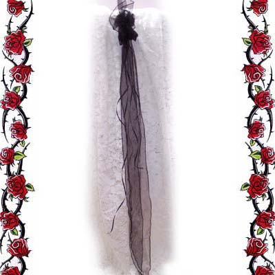 Black Gothic Bridal Hari Accessory