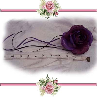 Purple Rose Fairy Wedding Hair Clip