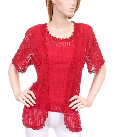 Ruby Red Twin Set Formal or Casual wear