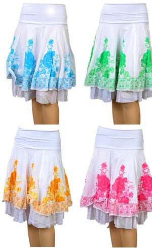 Pink and White Summer Fairy Skirt