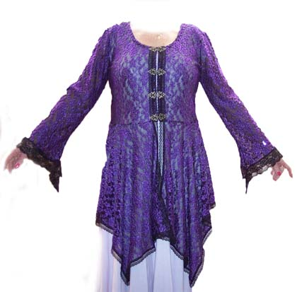 Purple Lace Hanky Jacket