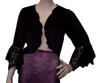 Black Velvet Bolero Gypsy Jacket