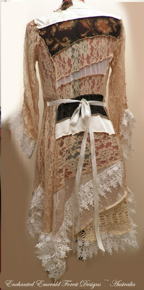 Tan Lace Patchwork Jacket