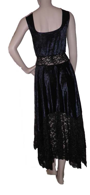 Back View of the Velvet Hankie Dress
