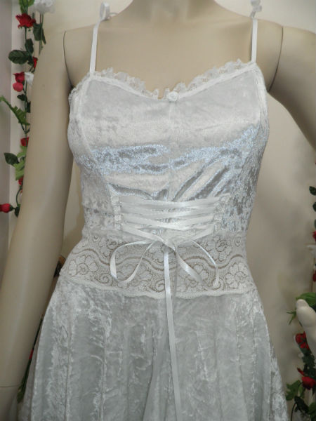 White Velvet Fairy Dress