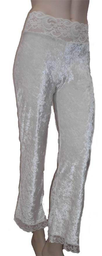White Velvet Hippy Pants