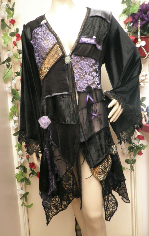 Dusty Mauve Patchwork Gypsy Elf Coat