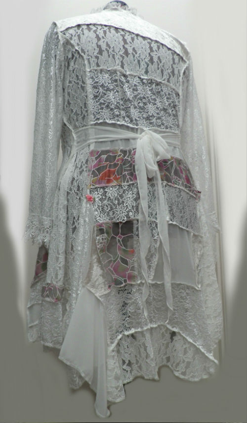 Ivory Patchwork Mother of the Bride Wedding Coat