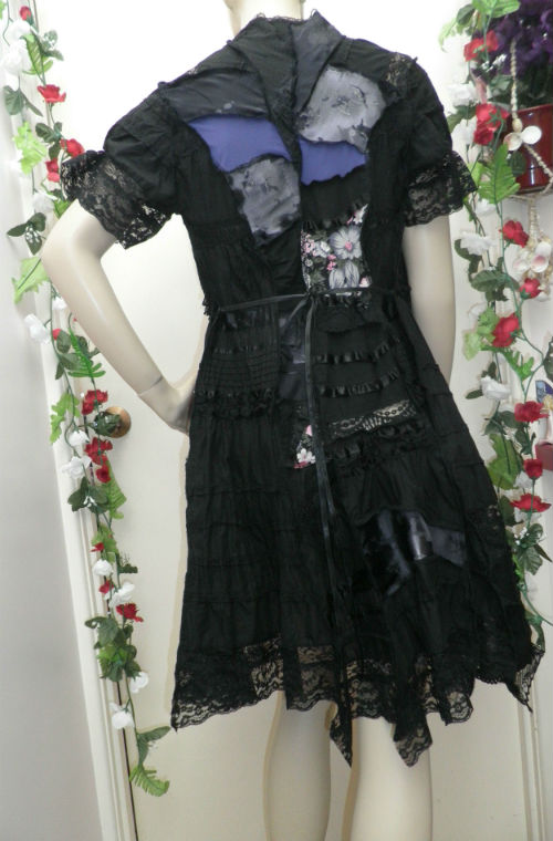 Black Cotton Short Sleeve Fairy Coat