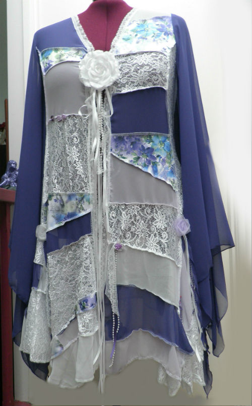 Purple and White Fairy Patchwork Wedding Coat