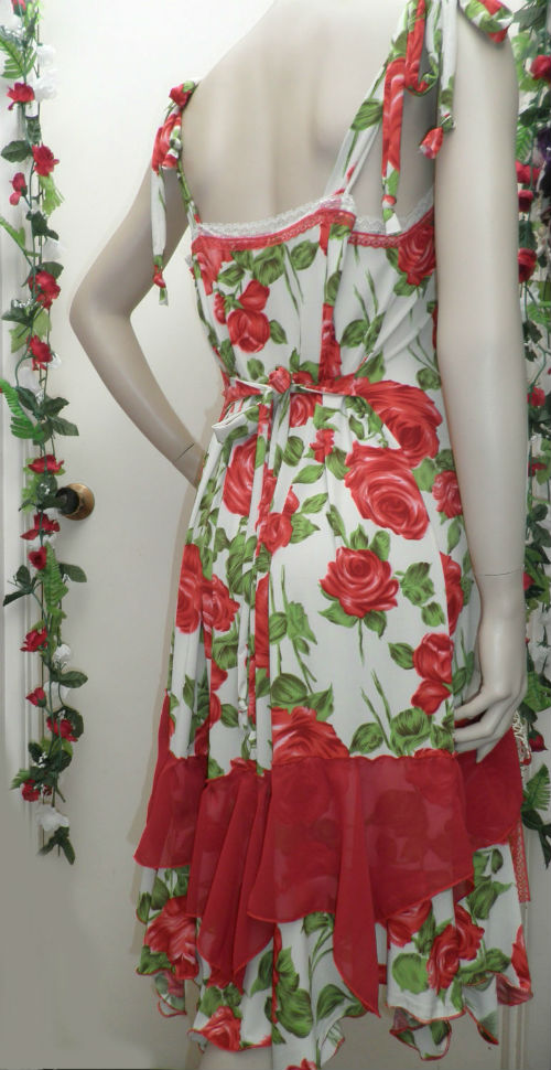 Red Rose Gypsy Dress