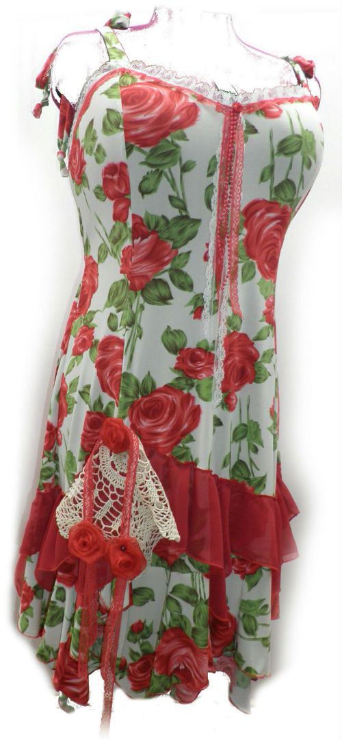 Red Rose Plus Size Fairy Dress