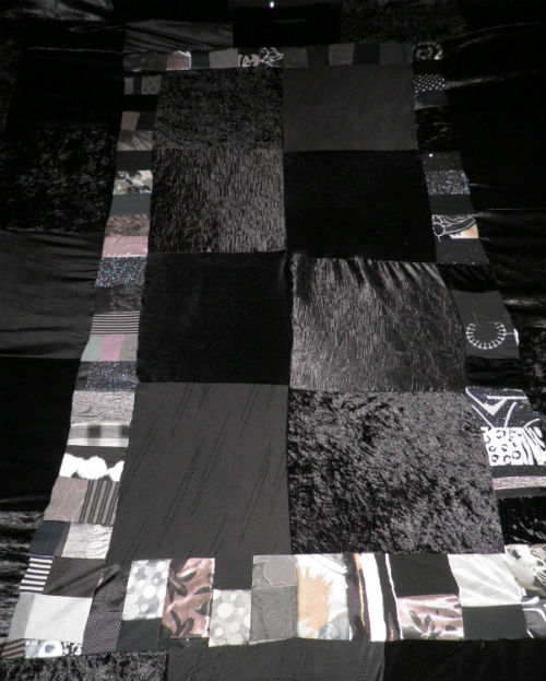 Black & White Patchwork Bed Spread