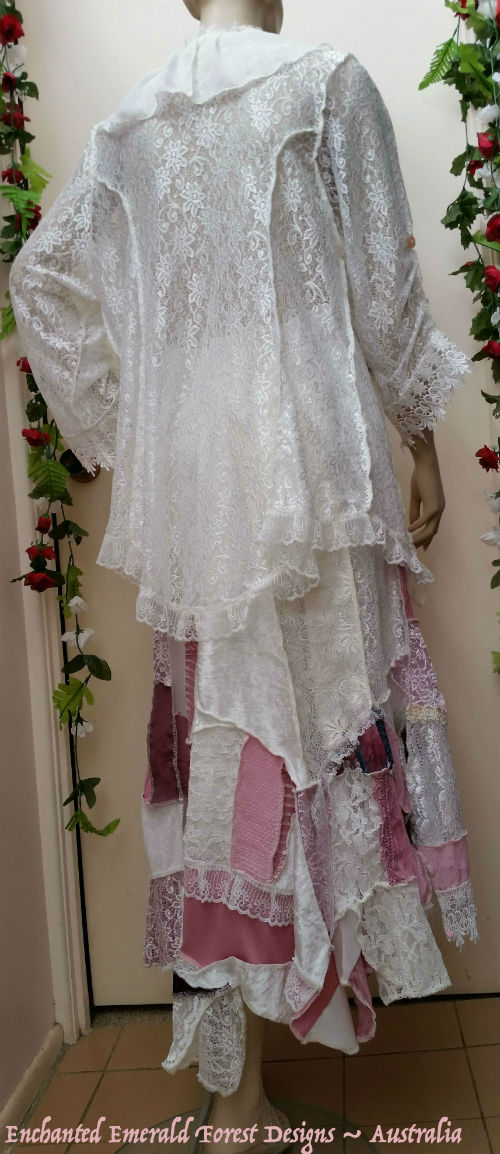 Ivory Rose Pink Patchwork Suit