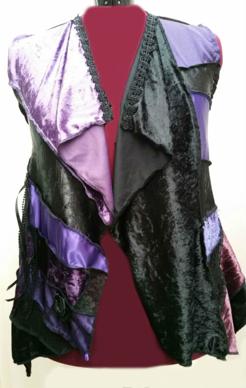 Purple & Black Bohemian Gypsy Vest