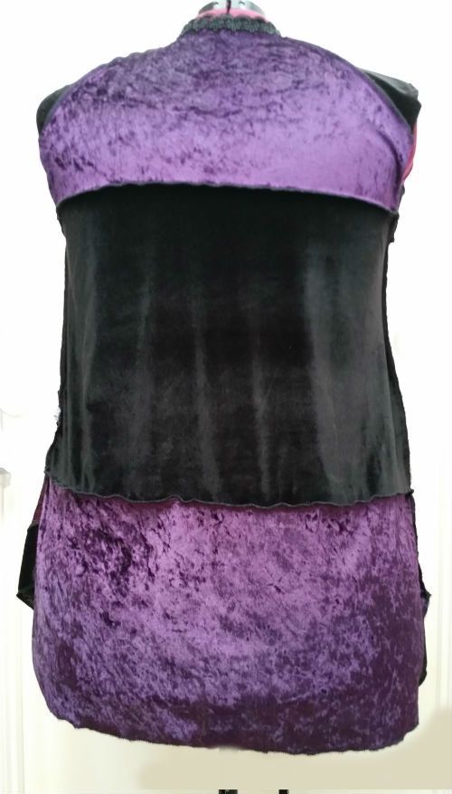 Black and Purple Gypsy vest