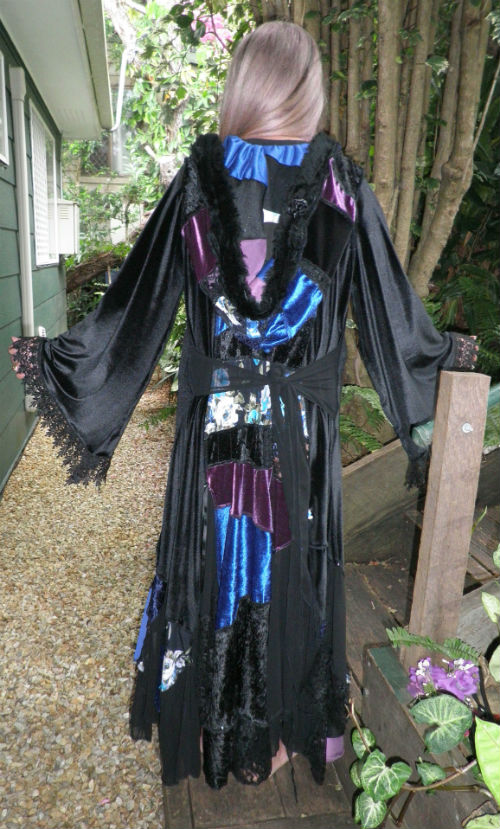 Black Blue Purple Stevie Nicks Style Bohemian Coat
