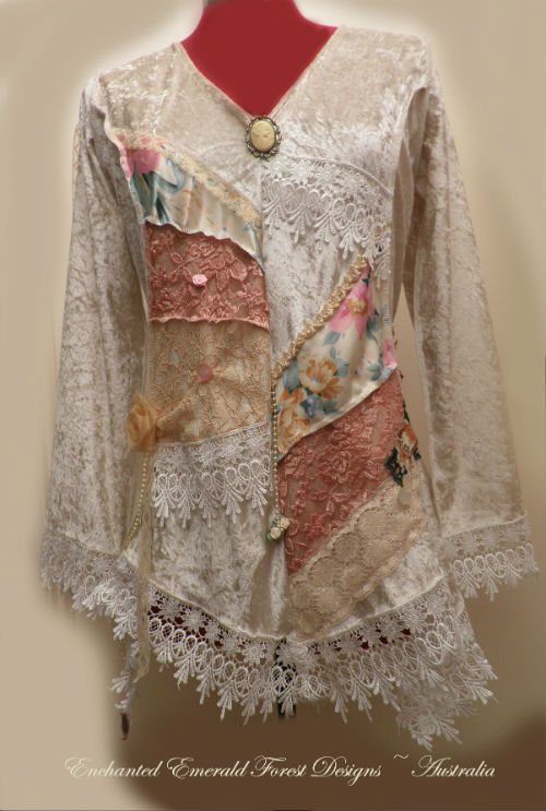 Cream Gypsy Velvet Top