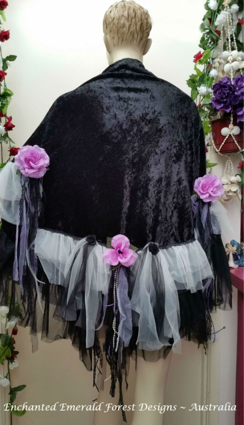 Black Bohemian Gypsy Shawl