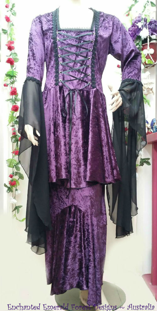 Purple Velvet Medieval Princess Set
