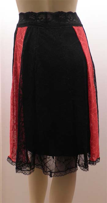 Black Red Gypsy Skirt