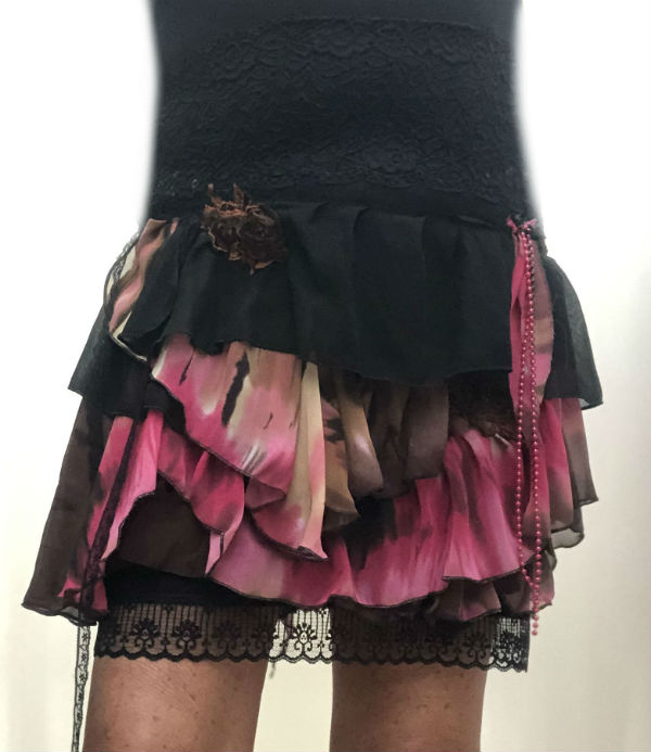Pink Tie Dyed Skirt