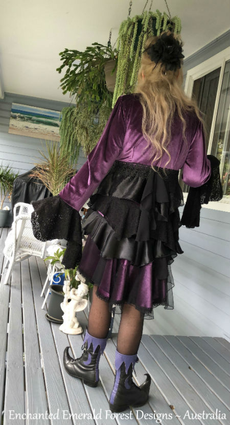 Purple Velvet Stevie Nicks Style Victorian Ruffle Coat