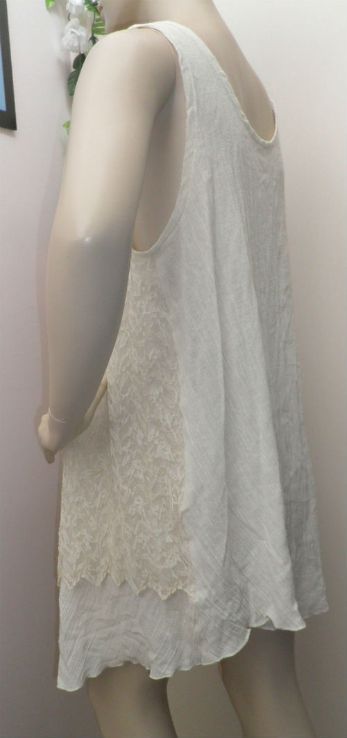 Cream Cheesecloth Dress
