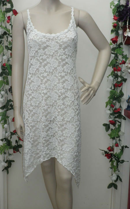 White Lace Angel Rose Dress