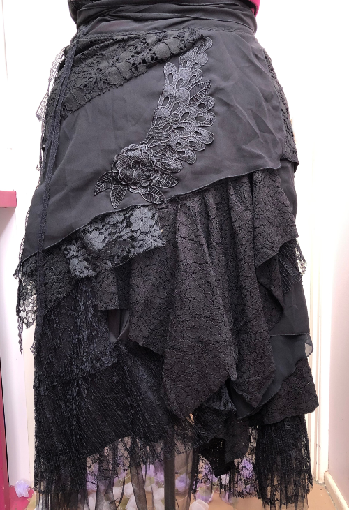 Black Circle Skirt Stevie Nicks Style