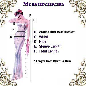 Measurements Chart Guide to Help Me Create a Garment Perfect  For You