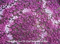 Burgundy Blue Tie Dyed Lace